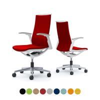オカムラ オフィスチェア モード 5本脚 クッションタイプ ハイバック アジャストアーム(可動肘) 樹脂ホワイトフ...