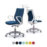 CCG28XR | オフィスチェア CG-M CG28XR パッドタイプ ホワイトフレーム デザインアーム ゴムキ...