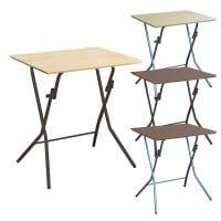 スタンドタッチテーブル 角型 折りたたみテーブル 完成品 日本製 幅635×奥行495×高さ700mm
