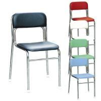 リブラチェアー 座面高420mm 待合椅子 クロムメッキ仕様 作業椅子