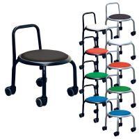 背付ローキャスターチェアー ボン 強じん脚キャスターチェアー 低座位作業用チェアー スタッキング可能 作業椅子
