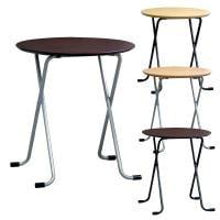 フォールディングテーブル 商談テーブル 丸型 完成品 日本製 幅600×奥行600×高さ680mm