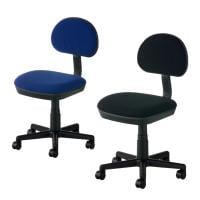 コンパクト オフィスチェア デスクチェア 事務椅子 レプリ2 幅530×奥行560×高さ760~875mm 【ブラ...