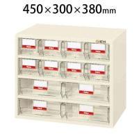 サカエ フレシスラックケース パーツケース 小物管理棚 部品箱 FCR-4ET 幅450×奥行300×高さ380mm