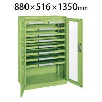 サカエ ミニ工具室 K-1031A 幅880×奥行516×高さ1350mm 工具保管 工具キャビネット