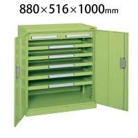 サカエ ミニ工具室 K-103N 幅880×奥行516×高さ1000mm 工具保管 工具キャビネット