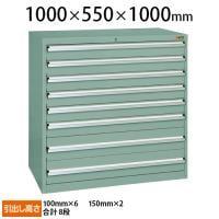サカエ 重量キャビネットSKV10タイプ 業務用棚 SKV10-1081ANG 幅1000×奥行550×高さ1000mm