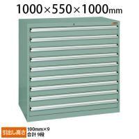 サカエ 重量キャビネットSKV10タイプ 業務用棚 SKV10-1091ANG 幅1000×奥行550×高さ1000mm