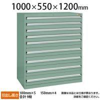 サカエ 重量キャビネットSKV10タイプ 業務用棚 SKV10-1292ANG 幅1000×奥行550×高さ1200mm