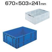 TPO-462.5 | TPO型 折りたたみコンテナ 収納ボックス コンテナボックス TP規格 63L  トラスコ...