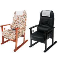 肘付高座椅子 安定型 幅580×奥行730-1140×高さ550-1015 座面高さ340/370/400/430mm