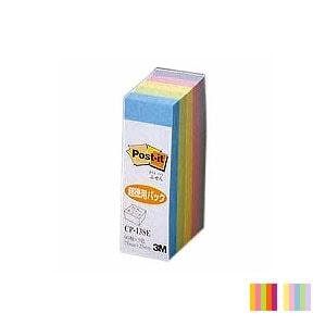EC-0049-60X1 / ポストイット ふせん 付箋 カラーキューブ ふせん 蛍光/パステル 5色積層 75×25mm 450枚 スリーエム