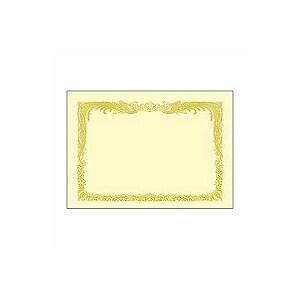 EC-10-1067/賞状用紙 プリンタ対応 A4タテ書 鳳凰柄雲入り クリーム色 ケント紙 1冊10枚入 ササガワ
