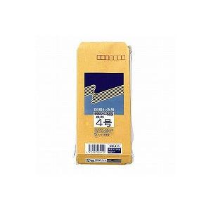 EC-411 / クラフト封筒 長4 紙の厚さ:80g100枚入り 郵便番号枠有り 高春堂