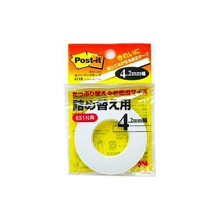 詰め替え用 修正テープ カバーアップテープ 幅4.2mm お徳用 1巻 スリーエム EC-651R