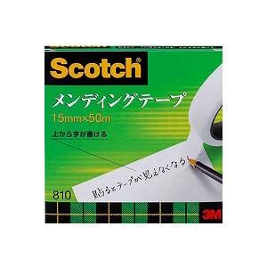 メンディングテープ 修繕テープ 紙箱入り 大巻 幅15mm 1巻 スリーエム EC-810-3-15