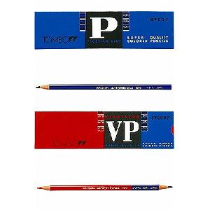 色鉛筆 色えんぴつ 青鉛筆・赤青鉛筆7/3 1ダース トンボ鉛筆 EC-8900-P