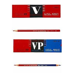 色鉛筆 色えんぴつ 赤鉛筆・赤青鉛筆5/5 1ダース トンボ鉛筆 EC-8900-V