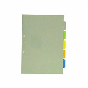 カバー付カラーインデックス A4 タテ型 5色5山 5枚1組 2穴 1冊10組入 キングジム/EC-907-2C