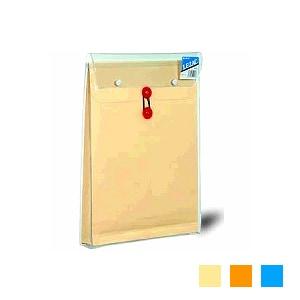 高耐久性 角0封筒 ビニール入り封筒 レザック マチ紐付き 保存袋 1枚 高春堂/EC-918