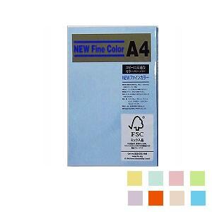 ニューファインカラー PPC用紙 コピー用紙カラー A4 1冊100枚入 吉川紙商事/EC-A4-100