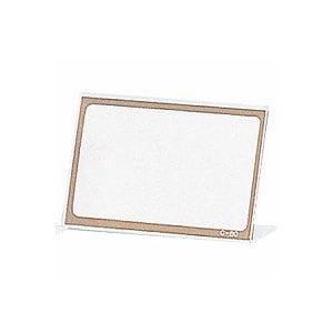 受付用品 環境対応 PETカード立 C型 片面タイプ 中紙サイズ80×50 1枚 オープン EC-C-80
