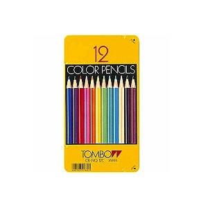 色鉛筆 色えんぴつ 12色セット 缶パッケージ トンボ鉛筆 EC-CB-NQ12C