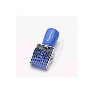 回転ゴム印 エルゴクリップ 欧文8連5号 ゴシック体 1個 シヤチハタ はんこ 印鑑 スタンプ EC-CF-85G