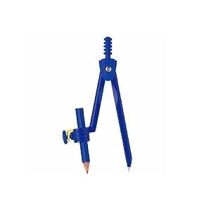 コンパス ブルー 鉛筆用 長さ130mm クツワ EC-CP206