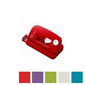 穴あけパンチ 2穴 デコレパンチ 穴あけ枚数約10枚対応 ハンドルロック カール EC-DP-35
