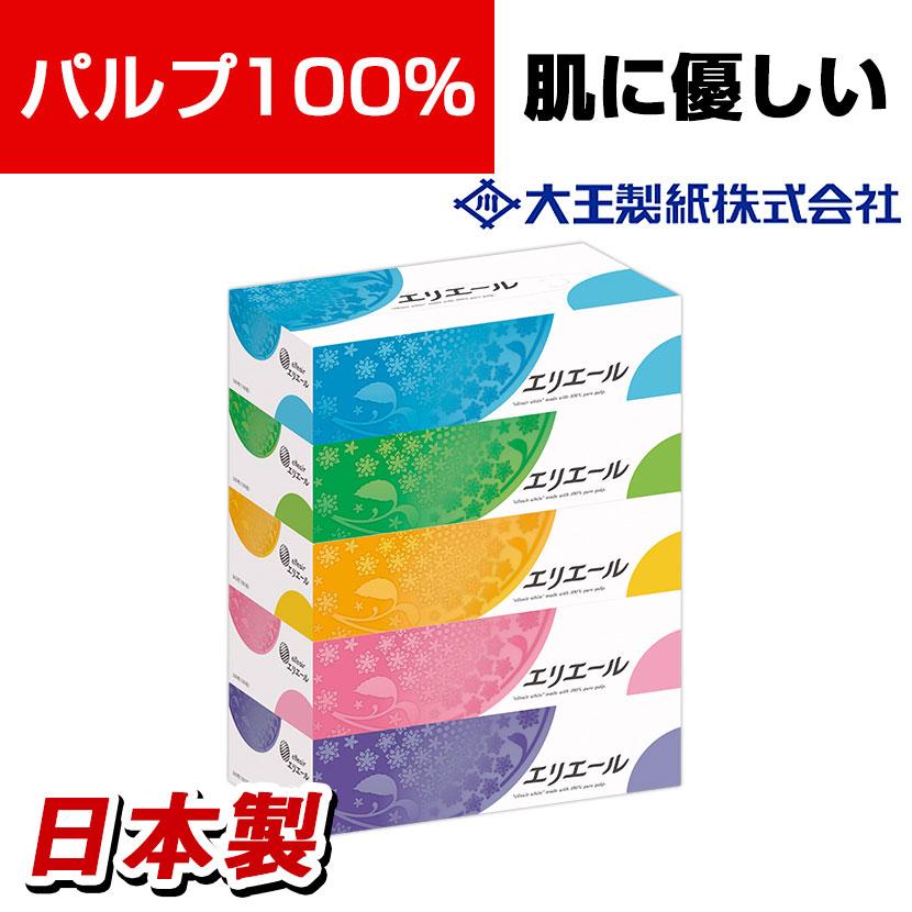 大王製紙 エリエールティッシュ 360枚(180組)×5箱