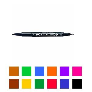 EC-MO-120-MC 油性マーカー マジック マッキー 極細字 1.0~1.3mm/0.5mm 1本 ゼブラ