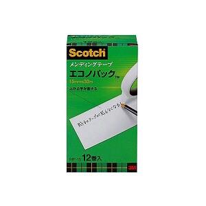 メンディングテープ 修繕テープ エコノパック 大巻 幅15mm 12巻 まとめ買い スリーエム EC-MP-15
