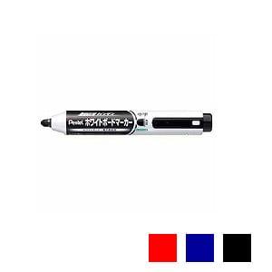 ハンディホワイトボードマーカー ノック式 丸芯 中字 1本 カートリッジ詰替式 ぺんてる EC-MWXN5M