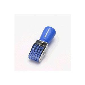 回転ゴム印 エルゴクリップ 欧文日付5号 ゴシック体 1個 シヤチハタ はんこ 印鑑 日付 スタンプ EC-NFD-5G