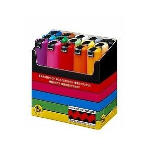 15色セット 水性マーカー マジック ポスカ 太字 8m 各色1本 三菱鉛筆 EC-PC8K15C