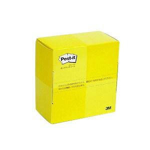 ポストイット ふせん 付箋 使い切りタイプ ノート 箱色:レモン 74×69mm 300枚 スリーエム EC-POP-300Y