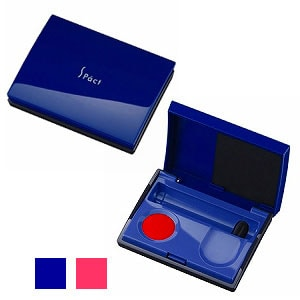 携帯型スタイリッシュ朱肉 エスパクトライト ポップアップ式 捺印マット付 20ml 1個 マックス max はんこ スタンプ 印鑑 実印 ケース EC-SA-2004S