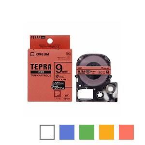 テプラ PROテープカートリッジ マットラベル 文字色:黒 幅9mm ラベル8m巻 1個 キングジム EC-SB9