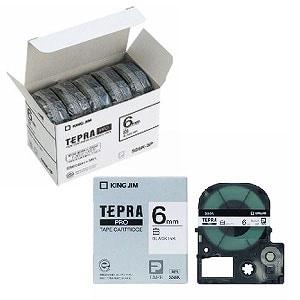 テプラ PROテープカートリッジ エコパック お徳用 ラベル:白 文字色:黒 幅6mm ラベル8m巻 1パック5個入 キングジム EC-SS6K-5P