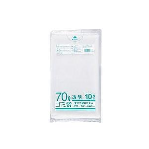 ゴミ袋 業務用透明メタロセン配合厚手ゴミ袋 70L 800×900mm 厚さ0.035mm ツルツル 1袋10枚入 クラフトマン
