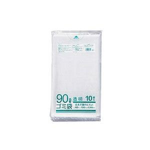 ゴミ袋 業務用透明メタロセン配合厚手ゴミ袋 90L 900×1000mm 厚さ0.04mm ツルツル 1袋10枚入 クラフトマン