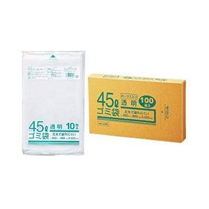 ゴミ袋 業務用透明メタロセン配合厚手ゴミ袋 徳用 45L 650×800mm 厚さ0.025mm ツルツル 1箱100枚入 クラフトマン