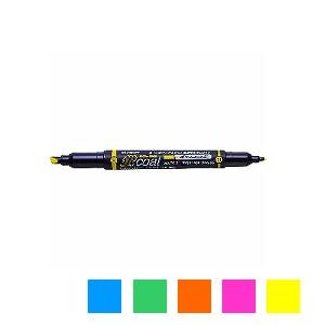 水性 蛍光ペン 蛍コート 太字 3.8mm / 細字 0.8mm 1本 トンボ鉛筆 EC-WA-TC