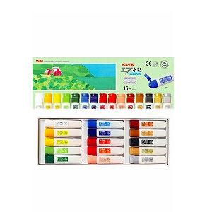 15色セット 水彩絵の具セット 各12ml エフ水彩 ぺんてる EC-WFC1-15