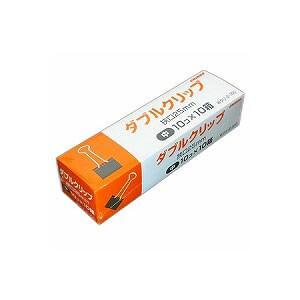 ダブルクリップ 中 業務用 徳用 狭口25 とじ枚数約100枚 1箱100個入 日本クリノス EC-WKULI-2-100