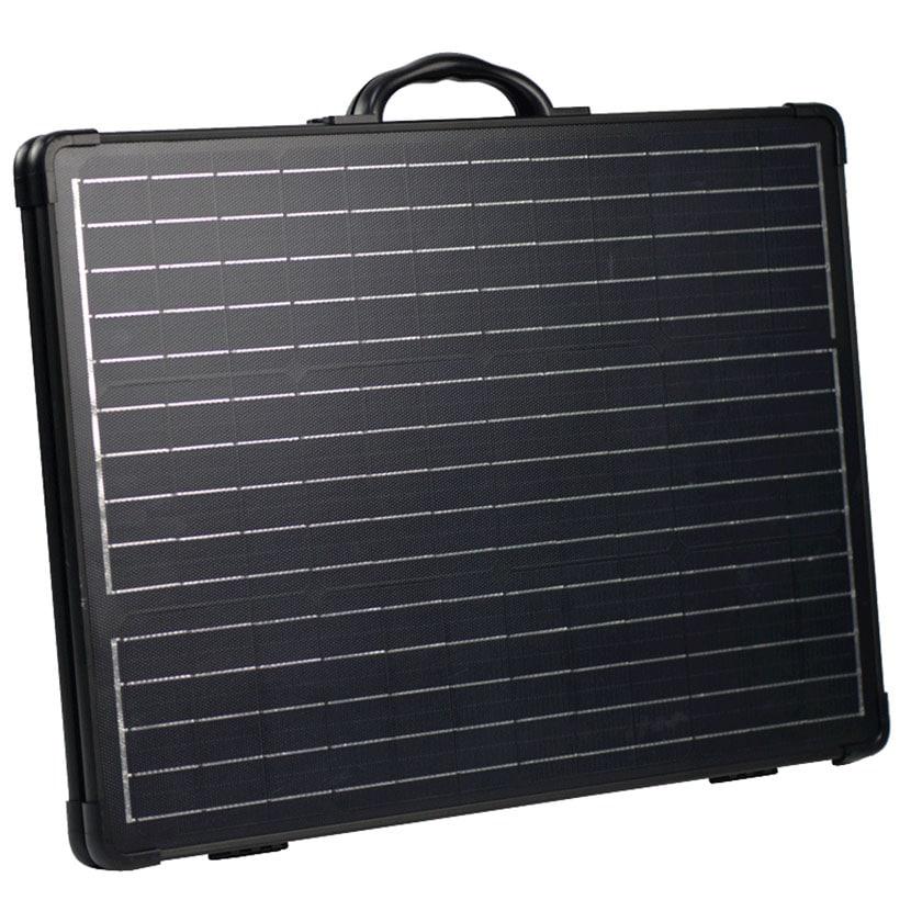 防災用 防水ソーラーパネル BCP 簡単設置 最大出力120W/18V 電源コード(MC4規格) 防水規格IP65 ソフトケース付き 設置スタンド付き BA-SP120BS