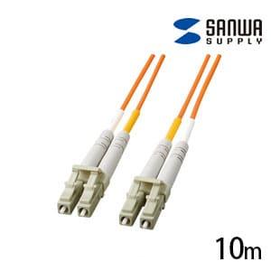 光ファイバーケーブル マルチモード 10m 光ファイバーコア径 50ミクロン LCコネクタ - LCコネクタ 100BASE-FX対応