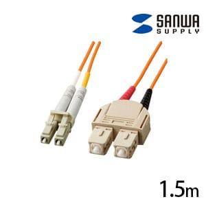 光ファイバーケーブル マルチモード 1.5m 光ファイバーコア径 50ミクロン LCコネクタ - SCコネクタ