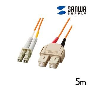 光ファイバーケーブル マルチモード 5m 光ファイバーコア径 50ミクロン LCコネクタ - SCコネクタ